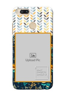 Xiaomi Mi 5X seamless and floral pattern design with smile quote Design