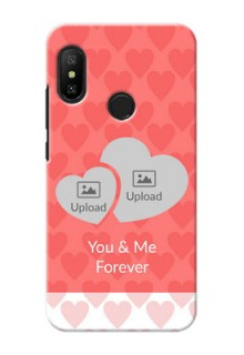 Mi A2 Lite personalized phone covers: Couple Pic Upload Design
