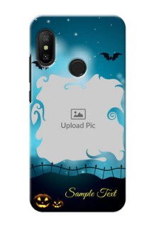 Mi A2 Lite Personalised Phone Cases: Halloween frame design