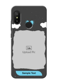 Mi A2 Lite Mobile Back Covers: splashes with love doodles Design