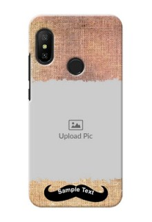 Mi A2 Lite Mobile Back Covers Online with Texture Design