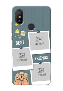 Xiaomi Mi A2 3 image holder with sticky frames and friendship day wishes Design