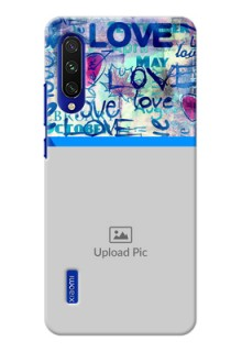 Mi A3 Mobile Covers Online: Colorful Love Design