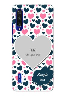 Mi A3 Mobile Covers Online: Pink & Blue Heart Design