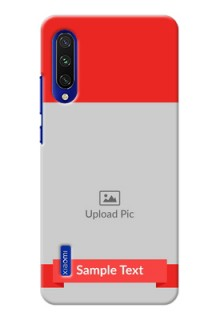 Mi A3 Personalised mobile covers: Simple Red Color Design