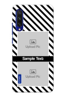 Mi A3 Back Covers: Black And White Stripes Design