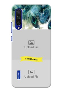 Mi A3 Phone Cases: Image with Boho Peacock Feather Design