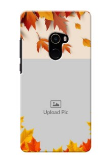 Mi MIX 2 Mobile Phone Cases: Autumn Maple Leaves Design