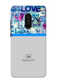 Xiaomi Note 4 Colourful Love Patterns Mobile Case Design