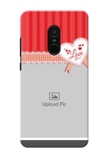 Xiaomi Note 4 Red Pattern Mobile Cover Design