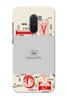 Poco F1 mobile cases online: Trendy Love Design Case