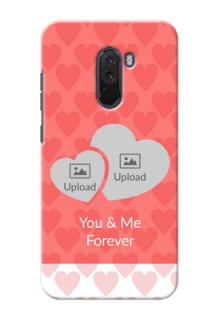 Poco F1 personalized phone covers: Couple Pic Upload Design