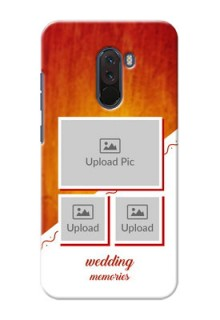 Poco F1 Personalised Phone Cases: Wedding Memories Design