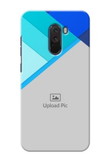Poco F1 Phone Cases Online: Blue Abstract Cover Design