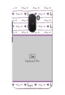 Poco F1 Mobile Back Covers: Couples Heart Design