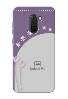 Poco F1 Phone covers for girls: lavender flowers design