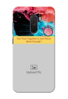 Poco F1 Mobile Cases: Quote with Acrylic Painting Design