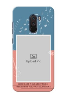 Poco F1 Phone Back Covers with Color Musical Note Design