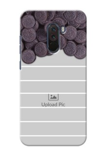 Poco F1 Custom Mobile Covers with Oreo Biscuit Design