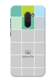 Poco F1 personalised phone covers with white box pattern
