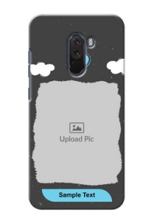 Poco F1 Mobile Back Covers: splashes with love doodles Design