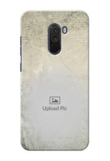 Poco F1 custom mobile back covers with vintage design