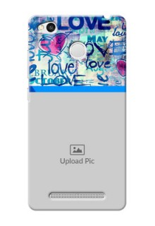 Xiaomi Redmi 3S Prime Colourful Love Patterns Mobile Case Design