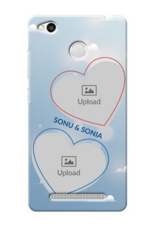 Xiaomi Redmi 3S Prime couple heart frames with sky backdrop Design