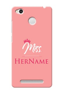 Xiaomi Redmi 3S Prime Custom Phone Case Mrs with Name
