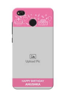 Xiaomi Redmi 4 plain birthday line arts Design