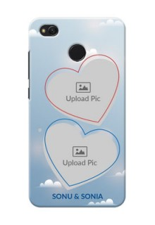 Xiaomi Redmi 4 couple heart frames with sky backdrop Design
