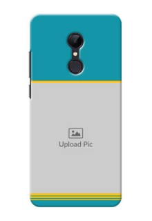 Redmi 5 personalized phone covers: Yellow & Blue Design