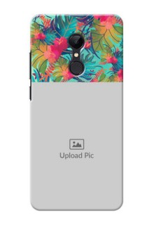 Redmi 5 Personalized Phone Cases: Watercolor Floral Design