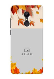 Redmi 5 Mobile Phone Cases: Autumn Maple Leaves Design