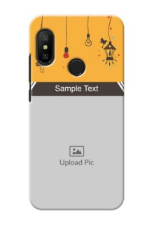 Redmi 6 Pro custom back covers with Family Picture and Icons
