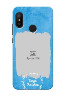 Redmi 6 Pro custom mobile cases: Blue Color Vintage Design