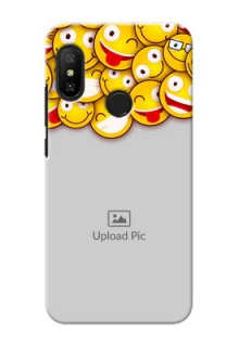 Redmi 6 Pro Custom Phone Cases with Smiley Emoji Design