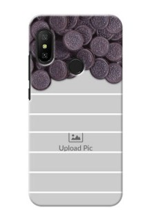 Redmi 6 Pro Custom Mobile Covers with Oreo Biscuit Design
