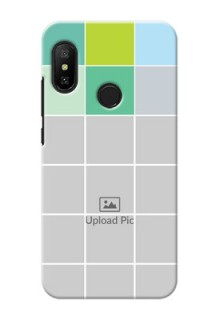 Redmi 6 Pro personalised phone covers with white box pattern