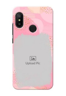 Redmi 6 Pro Phone Covers for Girls: Gold Glitter Splash Design