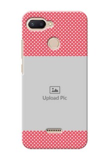 Xiaomi Redmi 6 Custom Mobile Case with White Dotted Design