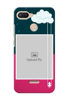 Xiaomi Redmi 6 custom phone covers: Cute Girl with Cloud Design
