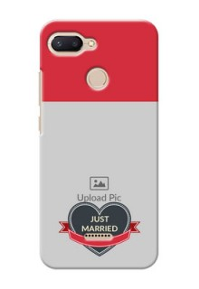 Xiaomi Redmi 6 mobile back covers online: Just Married Couple Design