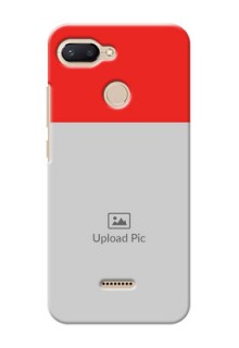 Xiaomi Redmi 6 Personalised mobile covers: Simple Red Color Design