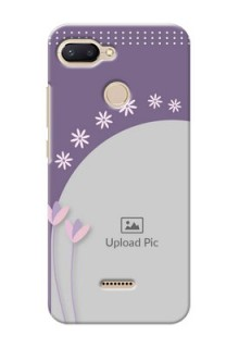 Xiaomi Redmi 6 Phone covers for girls: lavender flowers design