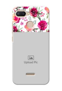 Xiaomi Redmi 6 Personalized Mobile Cases: Watercolor Floral Design