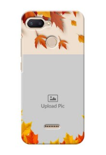 Xiaomi Redmi 6 Mobile Phone Cases: Autumn Maple Leaves Design