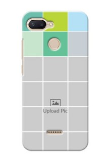 Xiaomi Redmi 6 personalised phone covers with white box pattern