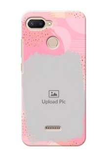Xiaomi Redmi 6 Phone Covers for Girls: Gold Glitter Splash Design