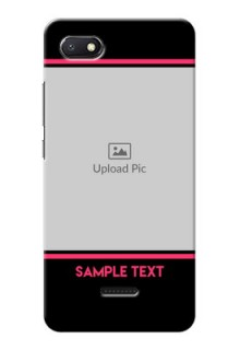 Redmi 6A Mobile Covers With Add Text Design